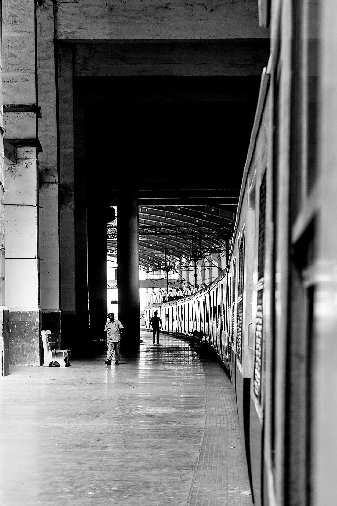 A railway platform by Soundarya Maran