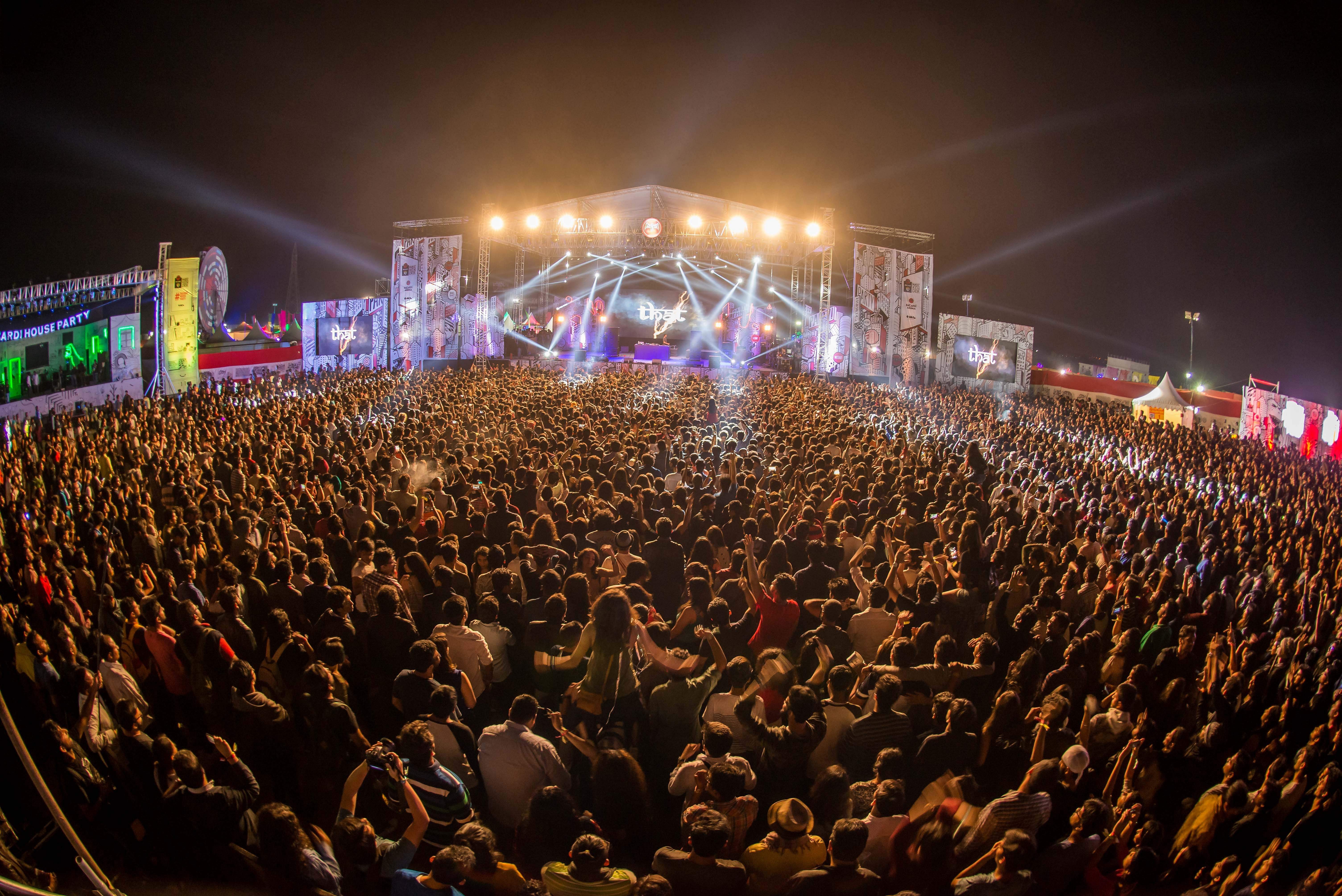 Scenes from an earlier edition of Bacardi NH7 Weekender
