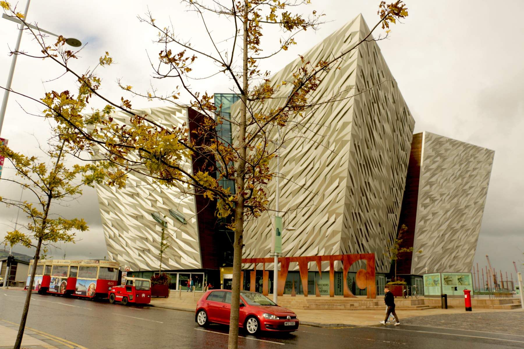 Facade of the Titanic Experience in Belfast