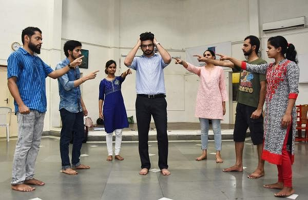 The cast of 5 Shades of Something at rehearsal. (Pic: Ashwin Prasath)