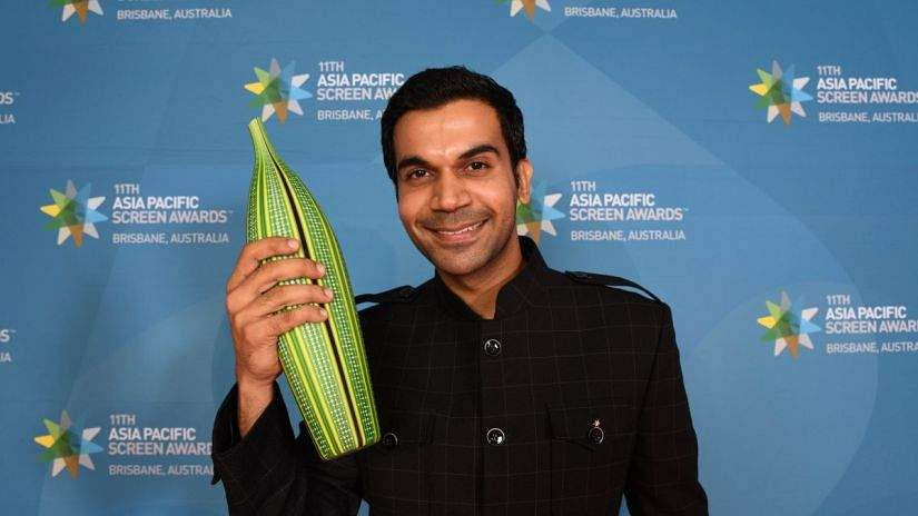 Rajkummar Rao with his trophy