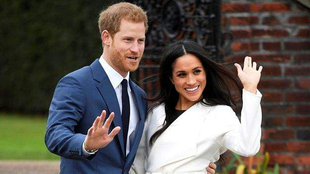 Prince Harry and Meghan Markle at the Sunken Garden