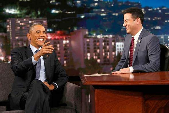 Barack Obama Joins 'Jimmy Kimmel Live' in Support of World AIDS Day
