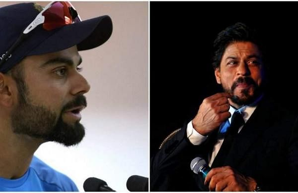 Virat Kohli and Shah Rukh Khan