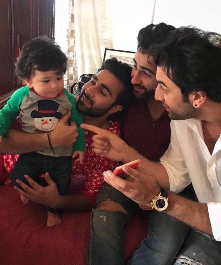 Ranbir Kapoor and Taimur Ali Khan