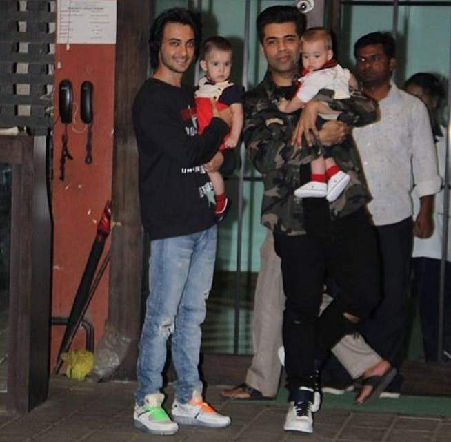 Karan Johar with Yash and Roohi