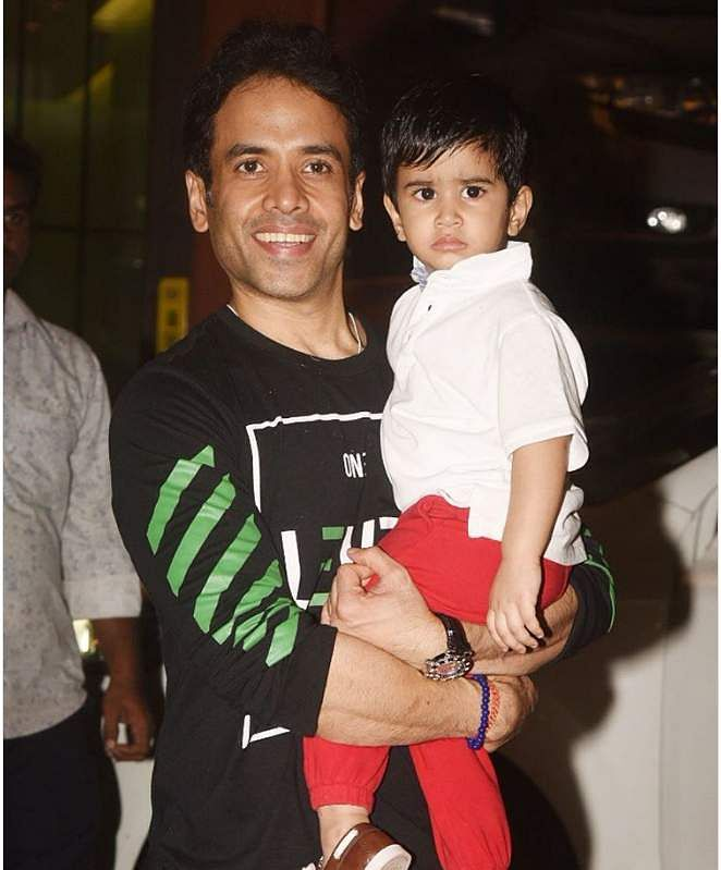 TussharKapoor and son Laksshya