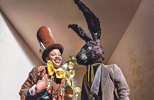 Slick Woods with the black rabbit