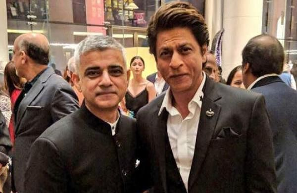 London mayor Sadiq Khan with Shah Rukh Khan