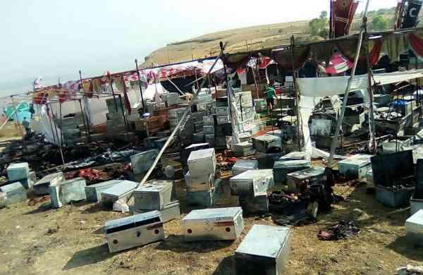 Padmavati sets destroyed in Kolhapur