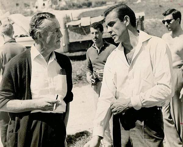 Ian Fleming with Sean Connery