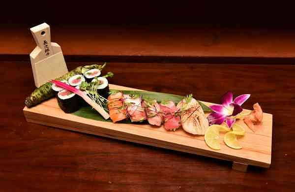 One of Executive Chef Achal Aggarwal's creations for the Japanese festival at Hilton Chennai