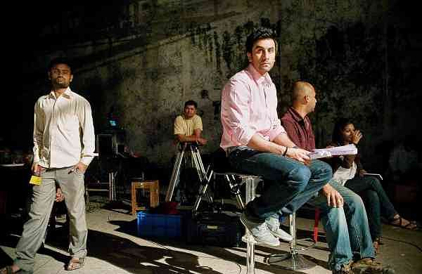 Ranbir Kapoor on set in the book, Living the Dream