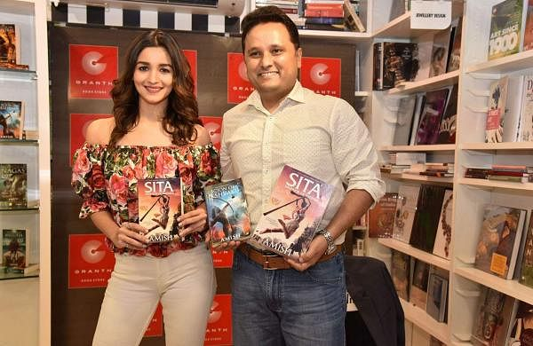 Alia Bhatt and Amish Tripathi