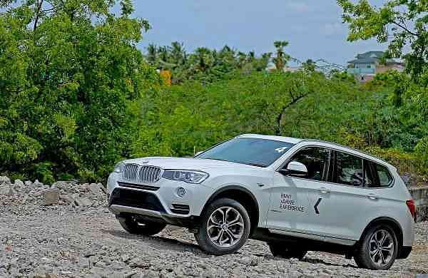 BMW X3 in action at BMW xDrive Experience in Chennai
