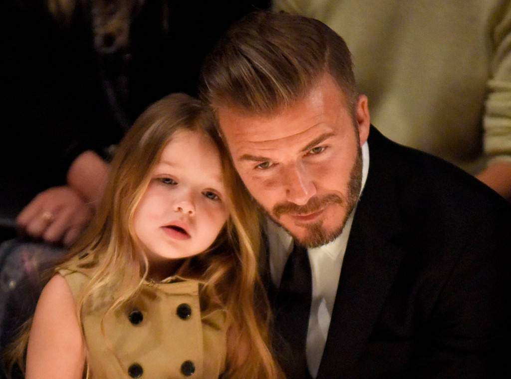 Pop princess Harper Beckham's day at Buckingham Palace