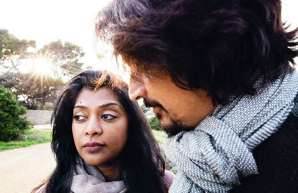 Tanu Kurien (L) and Sumanto Chattopadhyay (R) in White Bee