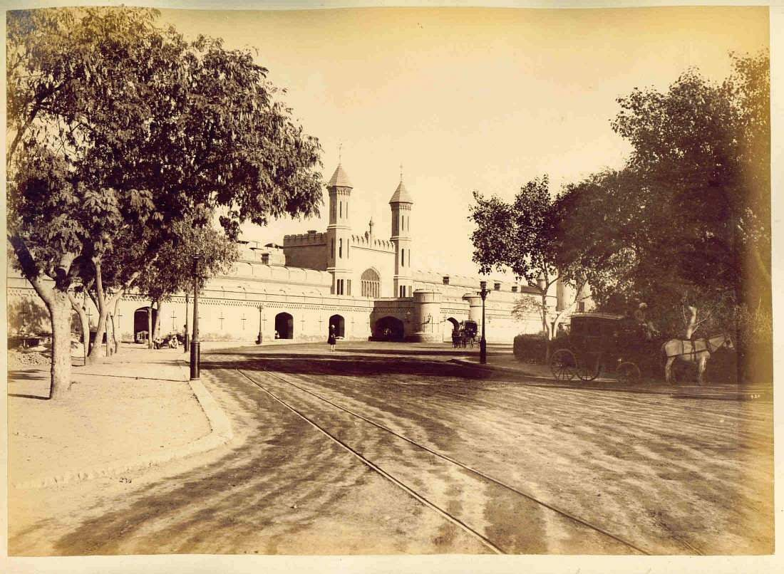 Lahore railway station in 1880