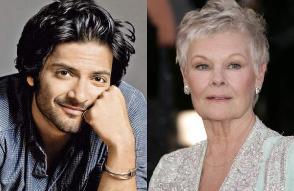 Ali Fazal and Judy Dench