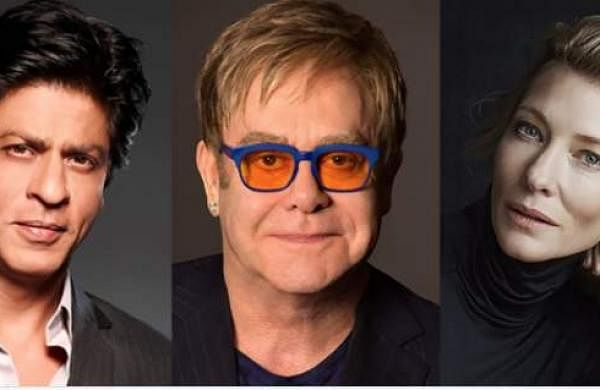 Shah Rukh Khan, Sir Elton John and Cate Blanchett