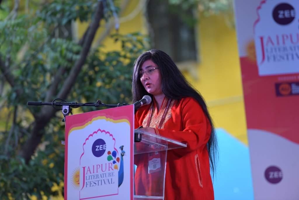Charu Singh at Jaipur Literature Festival 2018
