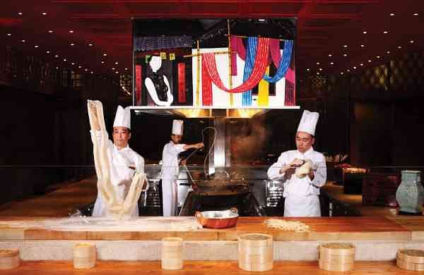 Chefs from The Venetian's North Restaurant making noodles