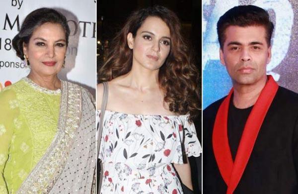 #MeToo in Bollywood: Kangana Ranaut questions Karan Johar, Shabana Azmi's silence on the movement