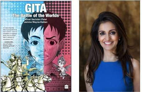 British-born-Indian author, Sonal Sachdev Patel returns to India to discuss her book GITA-The Battle