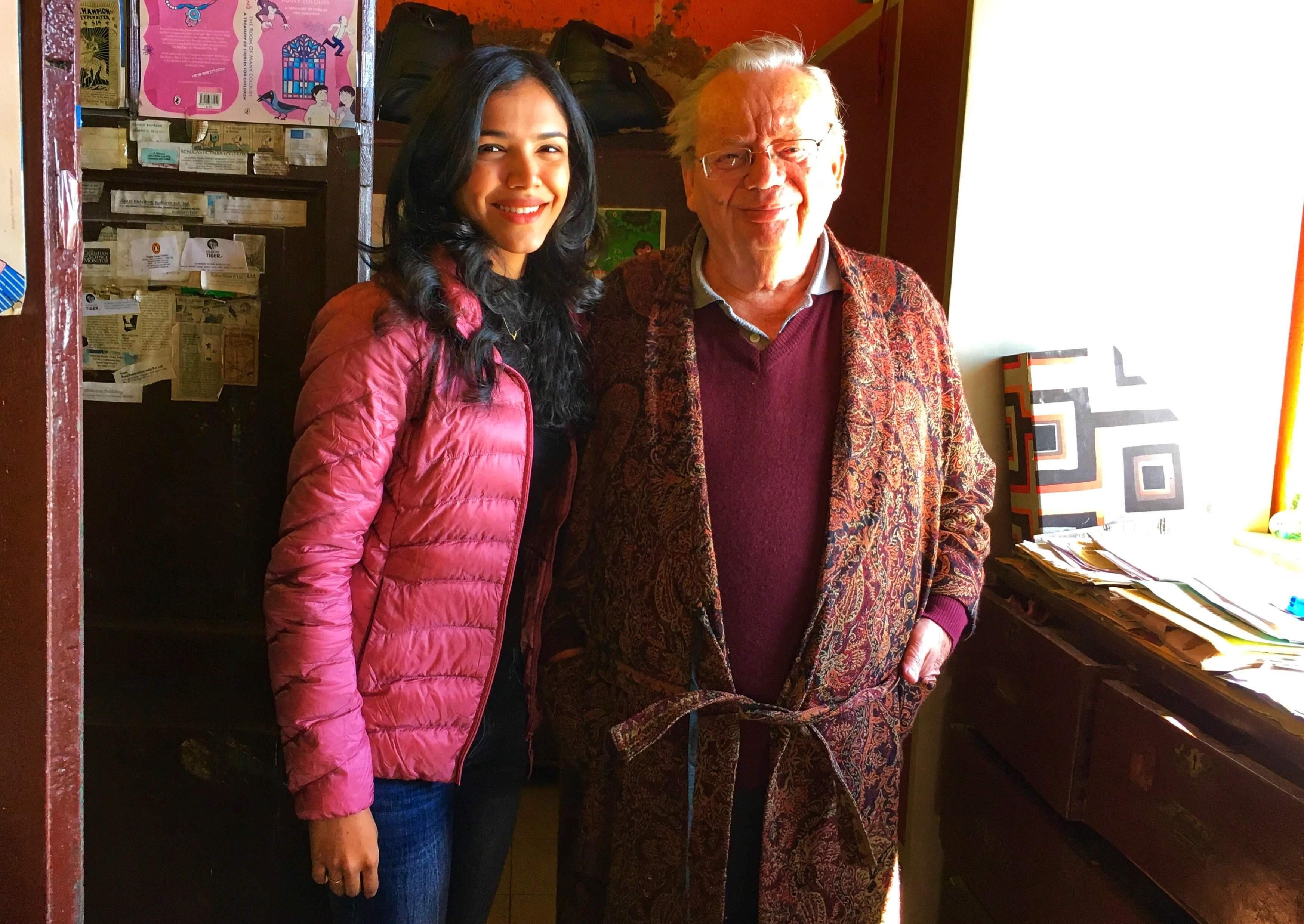Shriya Pilgaokar with Ruskin Bond