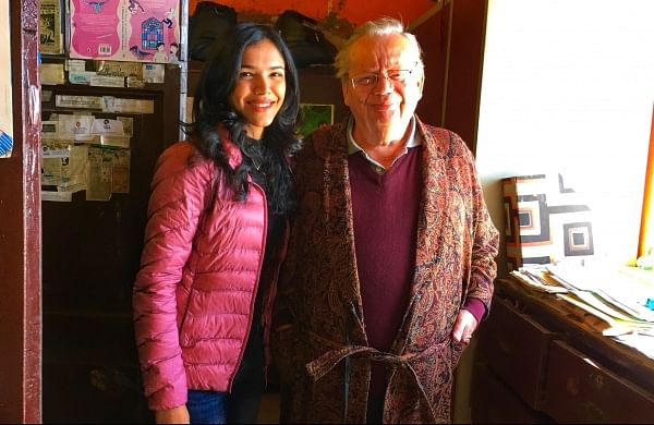 Shriya Pilgaokar with Ruskin Bond