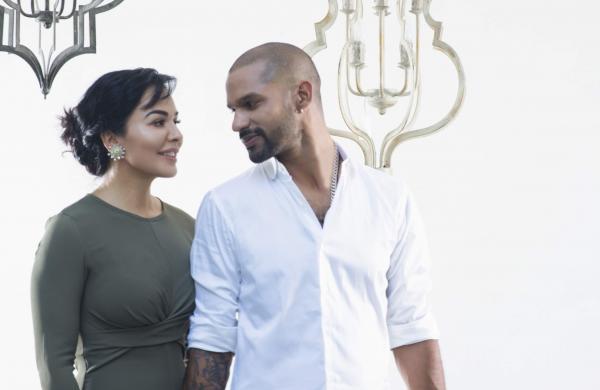 Aesha and Shikhar Dhawan