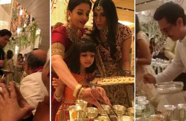 Twitter trolls Bollywood celebrities for serving food at Isha Ambani's wedding, Abhishek Bachchan re