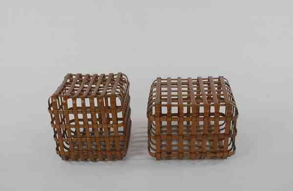 Bamboo Cube Stools by MP Ranjan
