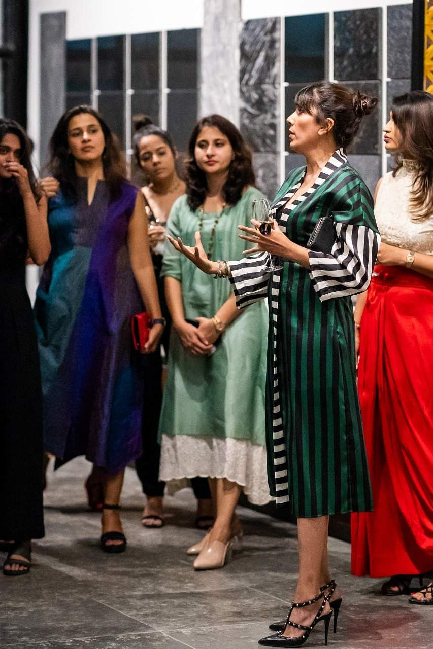 Hameeda_Sharma_walking_the_ladies_through_Stonelife