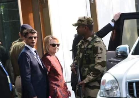 Hilary Clinton arrives in Udaipur forIsha Ambani,Anand Piramal wedding celebrations