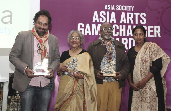 L-R, Riyas Komu, Arpita Singh, Bose Krishnamachari and Benitha Perciyal