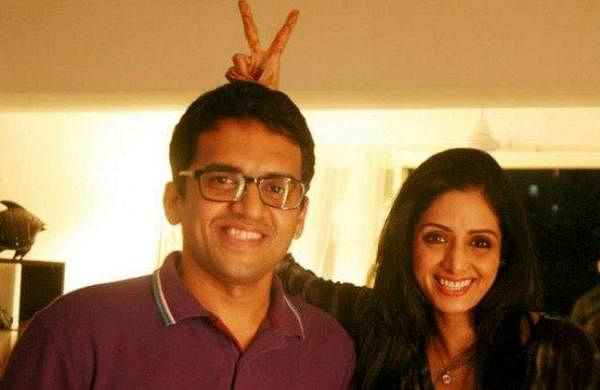 Rajeev with Sridevi