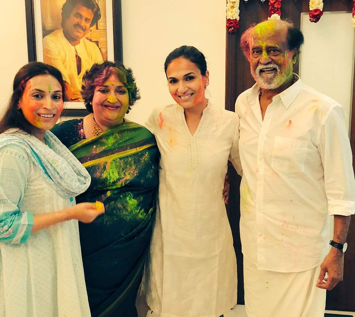 Rajinikanth and family