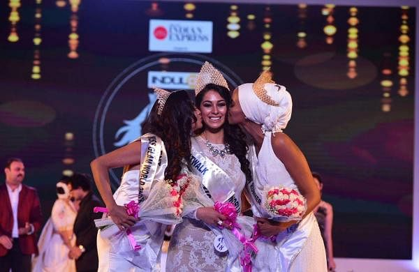 Mexico's Estefania Chavez Garcia walks down the ramp after being crowned Indulge Miss Glam World 2018 in Kochi, on Friday.