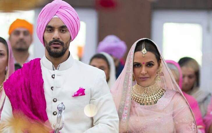 Actor Neha Dhupia marries Angad Bedi, see photos