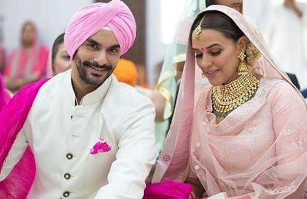 Actors Neha Dhupia and Angad Bedi married on Thursday