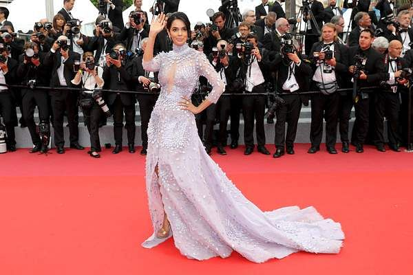 Mallika Sherawat rocked a Tony Ward gown at the Cannes Film Festival 2018