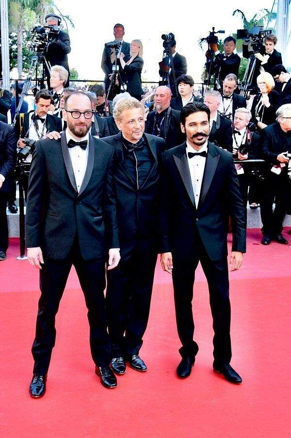 Dhanush at Cannes to promote his upcoming Hollywood debut