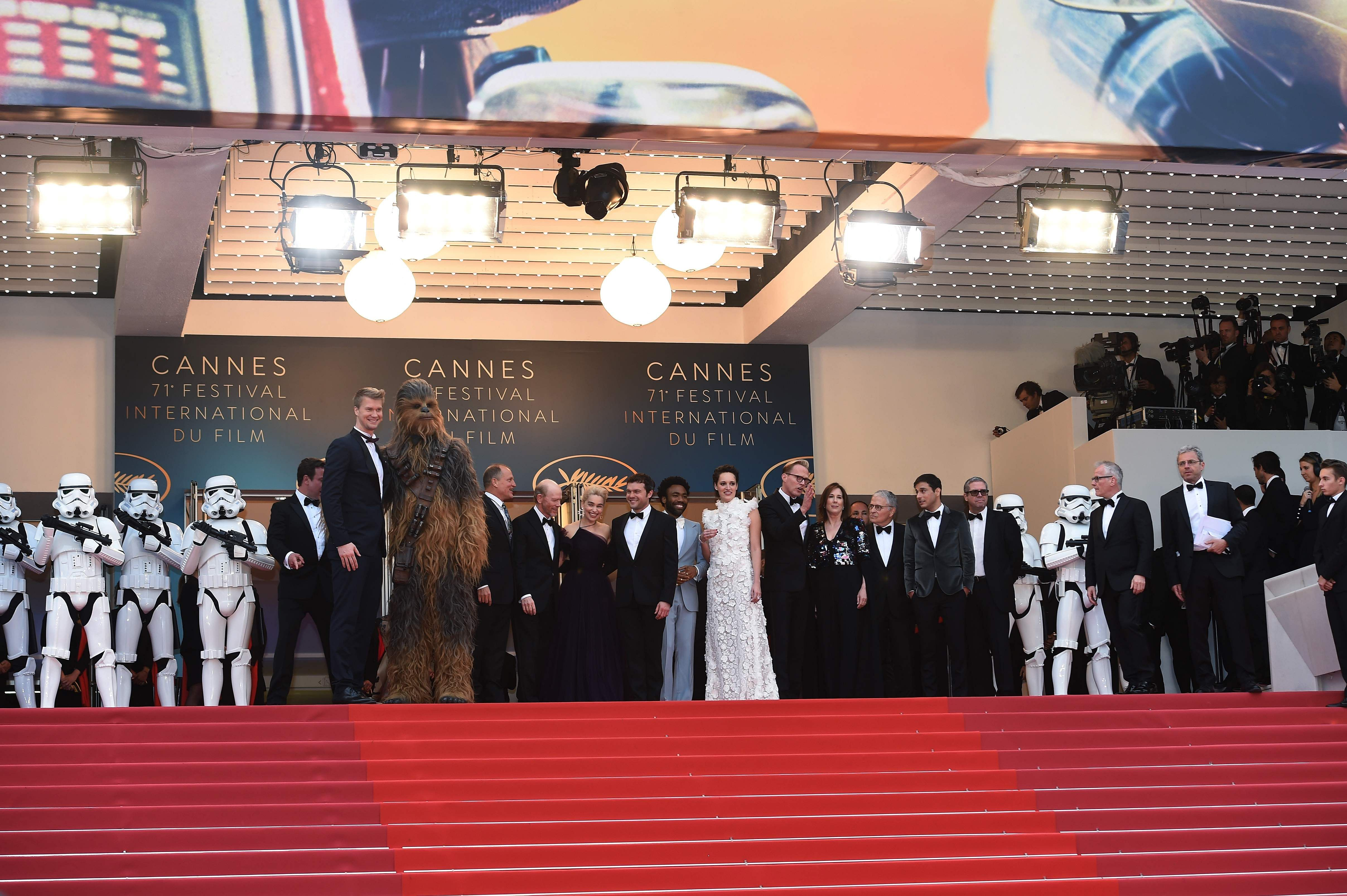 The new Star Wars movie Solo: A Star Wars Story was screened at Cannes 2018. The entire cast also walked the red carpet