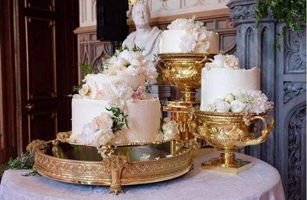 The stunning lemon and elderflower wedding cake served at Prince Harry and Meghan Markle's reception.