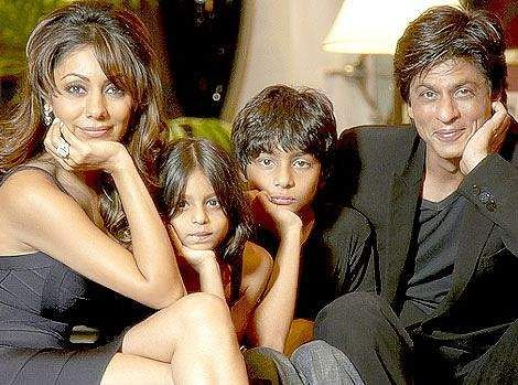 The Khan Family: Gauri Khan, Suhana Khan, Aryan Khan and Shah Rukh Khan
