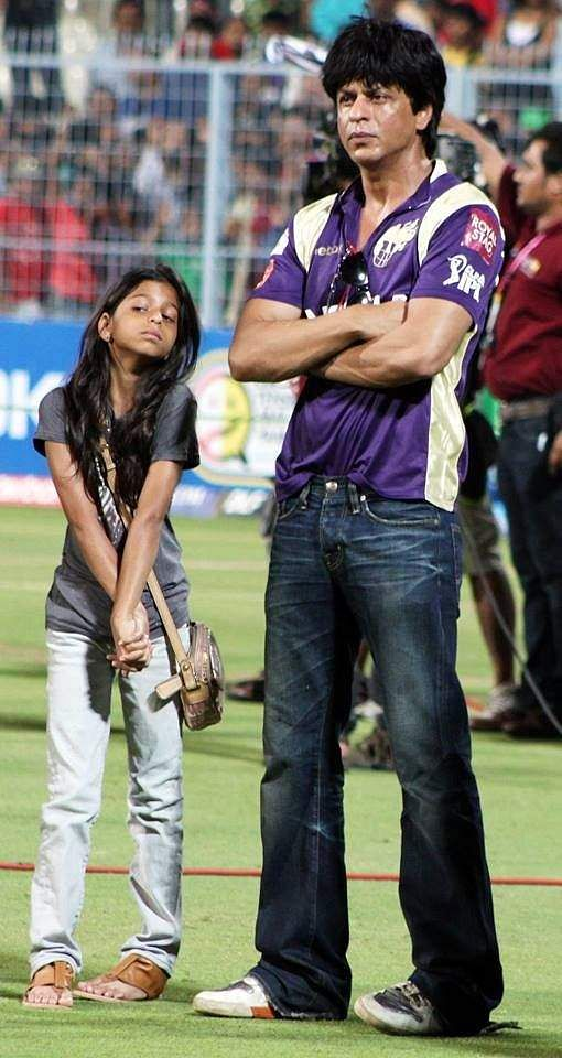 Suhana Khan spotted with Shah Rukh Khan at an IPL match
