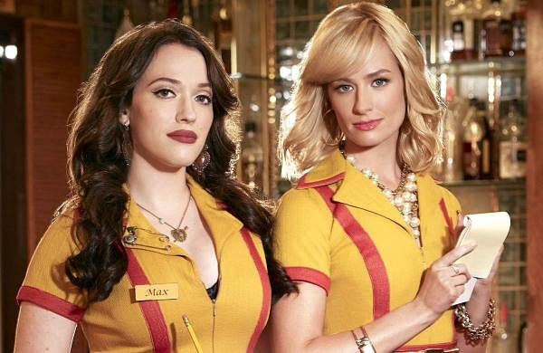 Max and Caroline from 2 Broke Girls