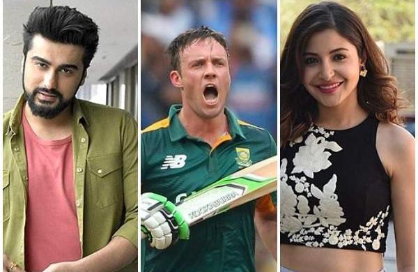 Arjun Kapoor, AB de Villiers, Anushka Shram