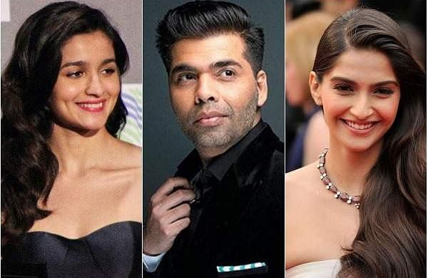 Alia Bhatt, Karan Johar, Sonam Kapoor